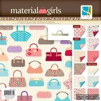 Набор скрапбумаги GCD Studios -Material Girl - 12 двусторонних листов, размер: 30x30 см