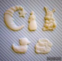 Гибкие пластиковые фигурки - Утка, 2х2см