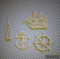 Гибкие пластиковые фигурки - Корабль, 5х4,5см