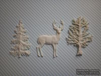 Набор гибких пластиковых фигурок - Зимний лес, 3 эл., высота элементов 7 см