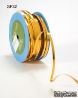 Лента - Metallic Foil / Twist Tie - Золотая, ширина - 5 мм, длина 90 см