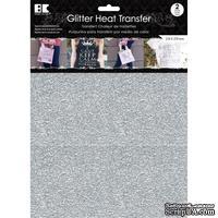 """Набор термотрансферных глиттерных листов от Best Creation - Glitter Heat Transfer 8.5""""X11"""", Silver, 2 листа"""