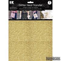 """Набор термотрансферных глиттерных листов от Best Creation - Glitter Heat Transfer 8.5""""X11"""", Gold, 2 листа"""