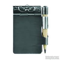 Миниатюрный держатель и карандаш от Spellbinders - Dance Card Pendant Silver