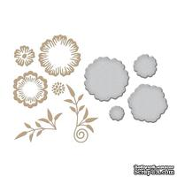 Пластины для фольгирования от Spellbinders - Foil Flowers