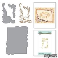 Пластины для фольгирования от Spellbinders - Gilded Leaves Shaped Panel Glimmer Hot Foil Plate The Gilded Age by Becca Feeken - ScrapUA.com