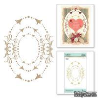Пластины для фольгирования от Spellbinders - Imperial Adorned Ovals Glimmer Hot Foil Plate Royal Flourish by Becca Feeken - ScrapUA.com
