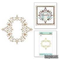 Пластины для фольгирования от Spellbinders - Petite Looking Glass Frame Glimmer Hot Foil Plate Royal Flourish by Becca Feeken
