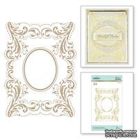 Пластины для фольгирования от Spellbinders - The Contessa's Seal Panel Glimmer Hot Foil Plate Royal Flourish by Becca Feeken - ScrapUA.com