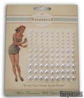 Половинки жемчужин от Melissa Frances - White Pearls, цвет: белый, 99 шт.