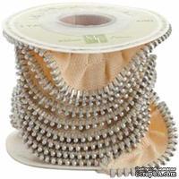 Ленточка от Melissa Frances - Zipper Ribbon - Cream, цвет: кремовый, длина 90 см, 1 шт.