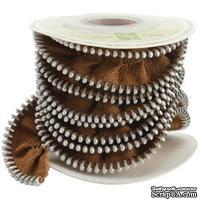 Тесьма от Melissa Frances - Zipper Ribbon - Brown, цвет: коричневый, длина 90 см, 1 шт.