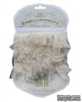 Ленточка от Melissa Frances - Organza Pouf Ribbon - Cream, цвет бежевый, длина 90 см, 1 шт.