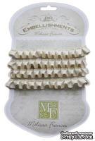 Ленточка от Melissa Frances - Pleated Satin Ribbon - Cream, цвет бежевый, длина 90 см, 1 шт.