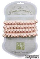 Ленточка от Melissa Frances - Pleated Satin Ribbon - Pink, цвет розовый, длина 90 см, 1 шт.