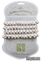 Ленточка от Melissa Frances - Pleated Satin Ribbon - White, цвет белый, длина 90 см, 1 шт.