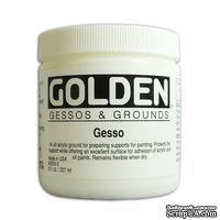 Грунт акриловый от Golden - Gesso - White 8oz, цвет белый, 240мл