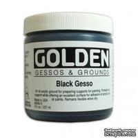 Грунт акриловый от Golden - Gesso - Black 8oz, цвет черный, 240мл