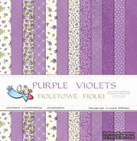"""Набор бумаги от Galeria Papieru """"Purple Violets"""",  30,5х30,5см, 12 листов"""