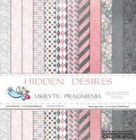 Набор двусторонней скрапбумаги от Galeria Papieru - Ukryte pragnienia - bloczek, 30х30 см, 12 шт