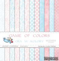 Набор двусторонней  скрапбумаги от Galeria Papieru - Gra w kolory - bloczek, 30,5 х 30,5 см