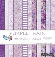 Набор двусторонней скрапбумаги от Galeria Papieru - Purpurowy deszcz - bloczek - Purple rain, 30,5 х 30,5 см