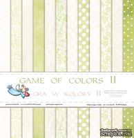 Набор двусторонней  скрапбумаги от Galeria Papieru - Gra w kolory II - bloczek, 30,5 х 30,5 см