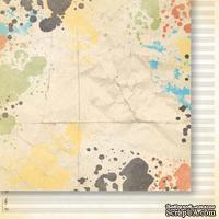Лист двусторонней скрапбумаги от Galeria Papieru - изучение жизни 04,30,5х30,5 см