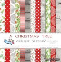 Набор двусторонней скрапбумаги от Galeria Papieru - Рождественская елка - блок,30,5х30,5 см - ScrapUA.com