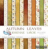 Набор двусторонней скрапбумаги от Galeria Papieru - Осенние листья - блок,30,5х30,5 см