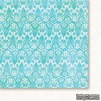 Лист двусторонней скрапбумаги от Galeria Papieru - Высшие сферы - бирюза 06,30,5х30,5 см
