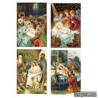 Двусторонний лист с картинками от Galeria Papieru, 5х30см, Рождество 4, 1 шт.