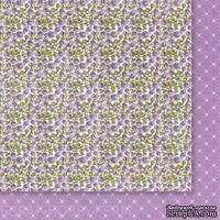 Двусторонний лист бумаги от Galeria Papieru - Fioletowe Fiolki 02 - ScrapUA.com