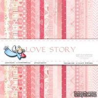 """Набор бумаги от Galeria Papieru """"Love Story"""", 15х15см, 22 листа"""
