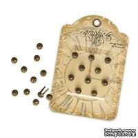 Объемные брадсы Graphic 45 - Staples - Stamped Metal Brads