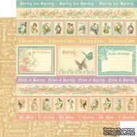 Лист двусторонней скрапбумаги Graphic 45 - Sweet Sentiments - Spring Has Sprung, 30х30 см