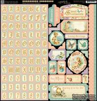 Набор наклеек Graphic 45 - Sweet Sentiments - Stickers