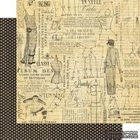 Лист двусторонней скрапбумаги Graphic 45 - Couture - Fashion, 30х30 см