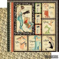 Лист двусторонней скрапбумаги Graphic 45 - Couture - Beautiful, 30х30 см