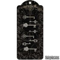 Декоративные ключи Graphic 45 - Staples - Ornate Metal Keys, 8 шт
