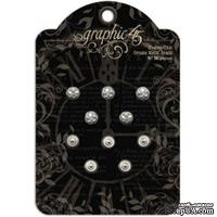 ЦЕНА СНИЖЕНА! Брадсы Graphic 45 - Staples - Shabby Chic Ornate Metal Brads, 10 шт