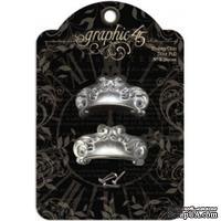 Декоративные ручки для дверок/ящичков Graphic 45 - Staples -Shabby Chic Door Pull, 2 шт