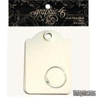 ЦЕНА СНИЖЕНА! Мини-альбом из тэгов - Graphic 45 - G45 Staples - Artist Trading Tags - Ivory, размер 6.3х9 см