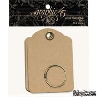 ЦЕНА СНИЖЕНА! Мини-альбом из тэгов - Graphic 45 - G45 Staples - Artist Trading Tags - Kraft, размер 6.3х9 см