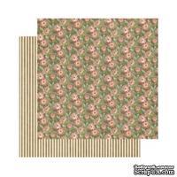 Лист скрапбумаги Graphic 45 - Botanical Tea - Fields of Flowers, 30х30 см, двусторонняя