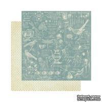 Лист скрапбумаги Graphic 45 - Botanical Tea - Robins Egg, 30х30 см, двусторонняя