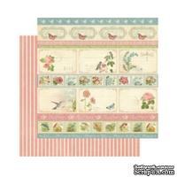 Лист скрапбумаги Graphic 45 - Botanical Tea - Hello Friend, 30х30 см, двусторонняя