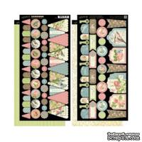 Высечки из чипборда Graphic 45 - Botanical Tea - Banners, 30х30 см