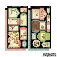 Высечки Graphic 45 - Botanical Tea - Tags & Pockets, размер 30х30 см