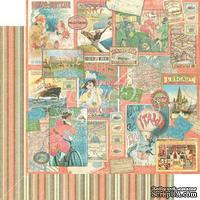 Лист скрапбумаги Graphic 45 - Come Away With Me - Pleasure Trip, двусторонняя, 30х30 см